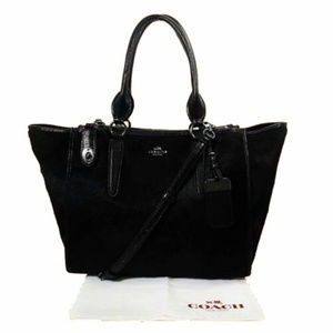 COACH Black Hair Calf Shoulder Bag$895